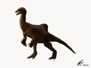 Deinocheirus. By Nobu Tamura.