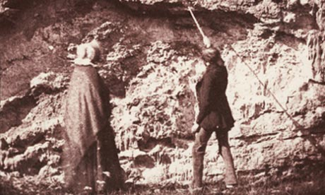 Possibly the only known photograph of Mary Anning and she is not even credited in the photo, which is called The Geologists. 1843, Devon. Salt print by William Henry Fox Talbot. Photograph: The National Media Museum, Bradford