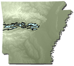 Upper Atoka Formation in Arkansas. Courtesy of the Arkansas Geological Survey.