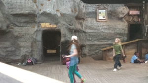 Underground Arkansas. Yes, it's a little blurry. Good luck getting your kids to stay still here long enough for a photo.